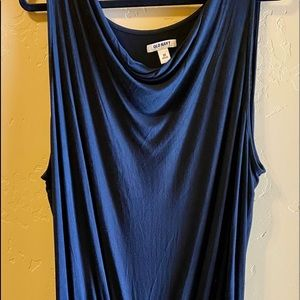 Old Navy Plus Size Cowl Neck Ruched Side Dress 3X
